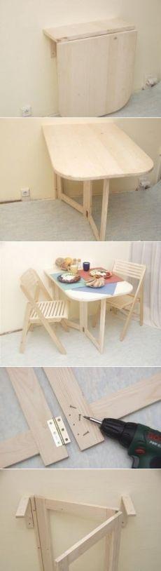 Как сделать складной маленький столик для маленькой кухни