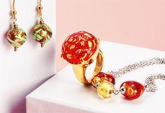 Murano Glass Jewelry by Venetiaurum -                                                                        VENETIAURUM Made in Italy Bracelet Made in Gold Plated Silver                                 VENETIAURUM Made in Italy Ladies Necklace                                 VENETIAURUM Made in Italy Ladies Necklace           ...