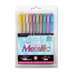 Sakura Gel Pens - Metallic.