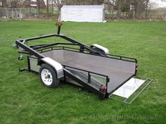 Diy Motorcycle Trailer Awesome 61 Ideas For 2019 Semi Trailer, Off Road Trailer, Trailer Plans, Trailer Build, Car Trailer, Utility Trailer, Metal Projects, Welding Projects, Art Projects