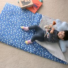 Kids And Toddlers Organic Cotton Sleeping Bag By On Etsy