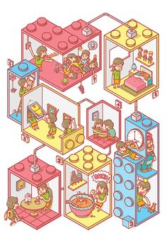 The Toy Collector on Behance Isometric Art, Isometric Design, Toy Collector, Drawing Reference, Game Design, Branding, Pixel Art, Graphic Illustration, Game Art