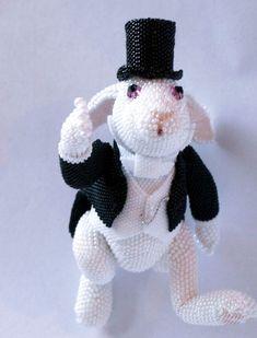Миниатюра ручной работы. Ярмарка Мастеров - ручная работа Белый кролик. Handmade.