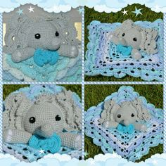 Check out this item in my Etsy shop https://www.etsy.com/listing/455833600/crochet-elephant-lovey-blanket