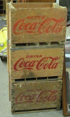Coca-Cola crates - holds 12 750ml bottles Vintage Crates, Vintage Coke, Wooden Crates, Wooden Boxes, Coca Cola Ad, Pepsi, Pop Bottles, Drink Bottles, Diet Coke