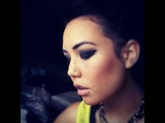 Fall 2012 Makeup Trends: Black smokey eye tutorial - YouTube