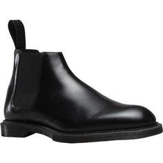 Men's Dr. Martens Wilde Low Chelsea Boot Black Wax Polished Smooth (UK  Men's 10 (US Mns 11) M (Regular))