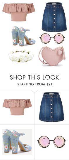"""""""Retro"""" by helizabethm03 ❤ liked on Polyvore featuring Miss Selfridge, LE3NO, Betsey Johnson and Forever 21"""
