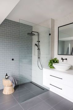 Luxury Bathroom Master Baths Paint Colors is extremely important for your home. Whether you choose the Luxury Master Bathroom Ideas or Luxury Bathroom Master Baths With Fireplace, you will make the best Small Bathroom Decorating Ideas for your own life. Ensuite Bathrooms, Bathroom Renos, Laundry In Bathroom, Bathroom Renovations, Master Bathroom, Master Baths, Decorating Bathrooms, Bathroom Inspo, Bathroom Grey