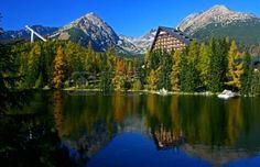 Strbske pleso tarn in High Tatras mountains Slovakia Stock Photo
