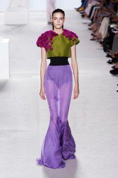 Giambattista Valli's lacy, lovely couture runway fashion Paris Fall 2013
