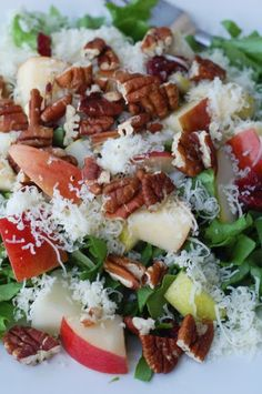 Cranberry Pear Salad, nice salad dressing with this recipe!