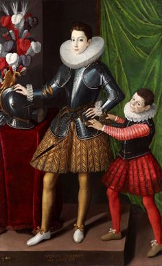 Gervasio Gatti Giuliano II Cesarini with his Page Painted 1586 The portrait was painted in 1586 when the sitter was fourteen, almost certainly to celebrate his recently acquired title of Duke. In 1585, he was conferred with the Dukedom of Civitanova nelle Marche by Pope Sixtus V.