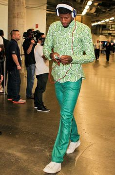 Green Paisley NBA Style Nice summer color