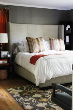 House Crashing: Swanky Panky | Young House Love  This room looks luxe and super cozy.