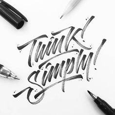 I love the texture @la.calligraphy gets in their work - #typegang - typegang.com