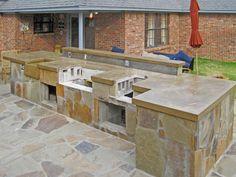 Outdoor Kitchen Concrete Countertop - 2014 Job of the Month - Solcrete.com