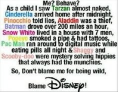 Really? Not only is this just stupid, but half of these aren't even Disney.....