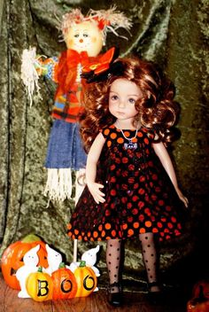 "OOAK ""Along Came a Spider"" dress set for 13"" Effner Little Darling #DiannaEffner"