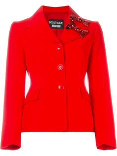 Boutique Moschino fitted bow blazer