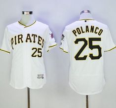 Pirates #25 Gregory Polanco White Flexbase Authentic Collection Stitched MLB Jersey