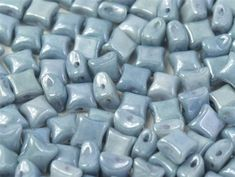 WibeDuo-03000-14464 - WibeDuo® 8x8 Beads - Chalk White Baby Blue Luster - 25 Count Shape Names, Blue Contacts, Crystal Shop, Bead Shop, Czech Glass, Luster, Green Colors, Baby Blue, Seed Beads