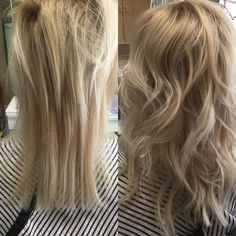 Before N After Blondie...   Before N After Blondie ExtensionsBabylightsOlaplex Only using 14 wefts of hair. 7 total extensions used only to create thickness. Working to create happy and healthy hair #olapexstanealonetreatments #olaplexinmycolour #patricialynnlaas #patricialynnlaashairco #thinhair #creatingthickhair #thickhairwithbabeextensions #babetapeinextensions #blondiegirlsrock #livedinhaircolour #livedinhaircuts #beverlyhills90211 #90211 #livedinhairstyles #experthaircolourist (at…