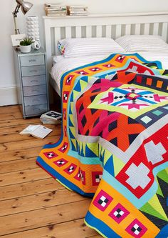 Modern Medallions quilt by Jo Avery for Love Patchwork & Quilting issue 26