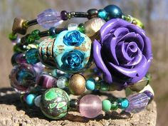 The Original Day of the Dead Wrap Around Bracelet Frida Inspired 5 loops OOAK!!!