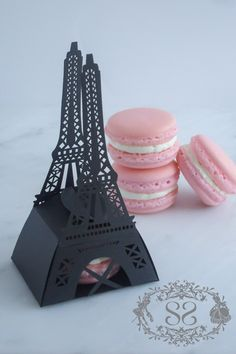 Wedding Favor French Macaron Favors Paris Wedding Eiffel Tower Favor Box and (1) French Macaroon. $5.00, via Etsy.