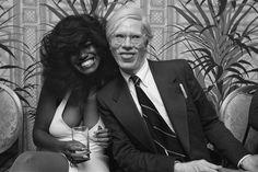 Claudia Lennear and Andy Warhol at Studio 54 Mick Jagger, Bianca Jagger, Studio 54, Andy Warhol, Grace Jones, Brooke Shields, John Travolta, Elizabeth Taylor, David Bowie
