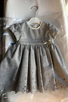 9a8d04bd947 Mayoral- Baby girl short sleeve dress with openwork flannel- Silver (24  months)