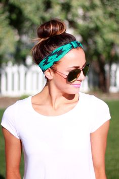 Geometric Gemstone headband...this is my summer hair do!! Ha! (hair band styles lazy girl)