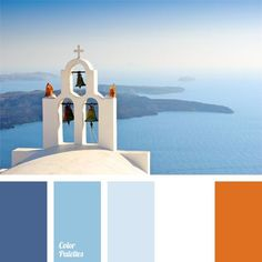 If you like Greece and you are planning a wedding in a Greek style, this colour palette is for you, since its colours characterizes the island of Santorini.