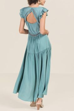 Francesca's - Teal Maxi Dress