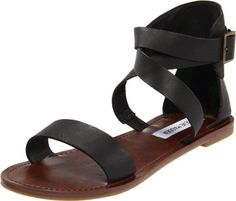 $59.95-$59.95 Steve Madden Women's Bethanyy Ankle-Strap Sandal,Black Leather,8 M US -   • Your search for cool summer style ends here  • Synthetic upper • Adjustable ankle strap buckle • Lightly padded footbed    http://www.amazon.com/dp/B005UB63ZA/?tag=icypnt-20