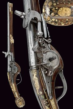A fine inlaid wheel-lock pistol.    provenance:	 	France dating:	 	first quarter of the 17th Century.