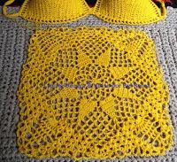 Tina's handicraft : Dress beach Crochet For Kids, Crochet Top, Crochet Books, Bikinis Crochet, Ribbon Design, Beach Dresses, Dress Beach, Irish Lace, Textile Design