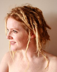 messy blond dreadlocks on white girls - Google Search... I like this sort of what my hair will do if I can get it right