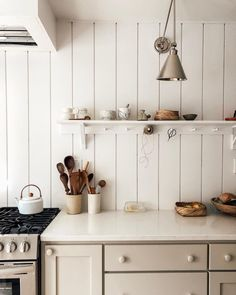 Home Interior Design .Home Interior Design Cute Kitchen, Rustic Kitchen, Kitchen Dining, Kitchen Decor, Kitchen Shelves, Room Kitchen, Home Interior, Interior Decorating, Interior Colors