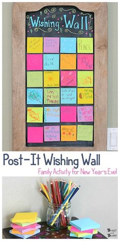 New Year's Eve with Kids: Wishing Wall Activity