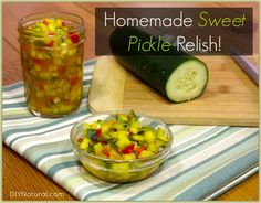 Add this sweet pickle relish recipe to your arsenal of homemade condiments--like ketchup, mustard, and mayo. Because warm weather and grilling season are upon us!
