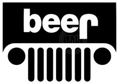 Beer Vinyl Emblem for Outdoors or Indoors