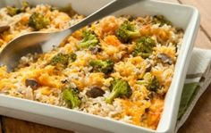 Broccoli, Rice and Cheese Casserole | Whole Foods Market - use home make cream of mushroom or stock instead
