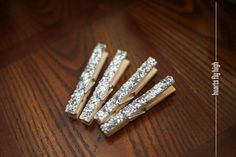 Fridge Magnet Silver Glitter Clothespin Locker Decor by HeartsFlyHigh, $4.50