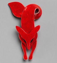Lea Stein - bakelite brooch