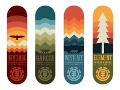 Element Skateboards WIP by Curtis Jinkins Follow us on Instagram @graphicdesignblg