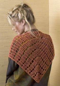 New to crochet? Super fast and easy one skein shawl from NaturallyCaron.com