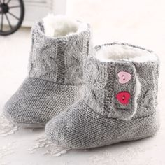 Lovely Comfortable Soft Amazing 3-18 Moth Infant Baby Winter Shoes Girls Boys Knitted Warm Snow Boots Prewalker First Walkers #Affiliate
