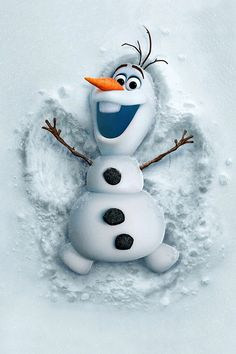 It's Olaf making a snow angle